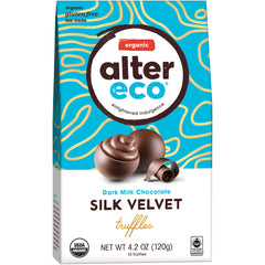 Alter Eco - Dark Milk Chocolate - Silk Velvet Truffles | Harris Farm Online