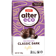 Alter Eco Organic Classic Dark Chocolate Truffles | Harris Farm Online