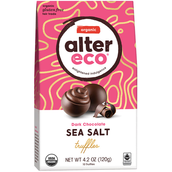 Alter Eco Dark Chocolate Sea Salt Truffles | Harris Farm Online