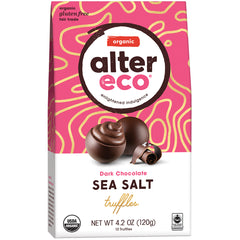 Alter Eco Organic Dark Chocolate Sea Salt Truffles | Harris Farm Online