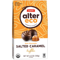 Alter Eco Dark Chocolate Salted Caramel Truffles | Harris Farm Online