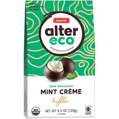 Alter Eco Organic Dark Chocolate Mint Creme Truffles | Harris Farm Online