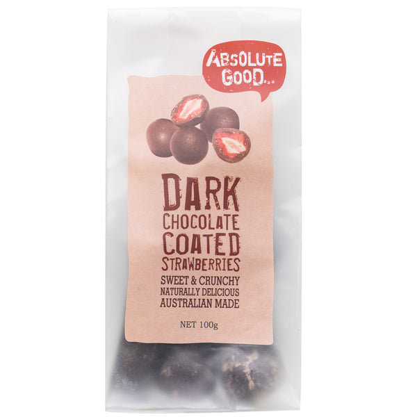 Absolute Good - Dark Chocolate Coated - Strawberries (100g)