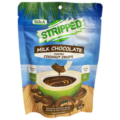 DJ & A - Stripped Coconut Crisps - Coated in Milk Chocolate (60g)