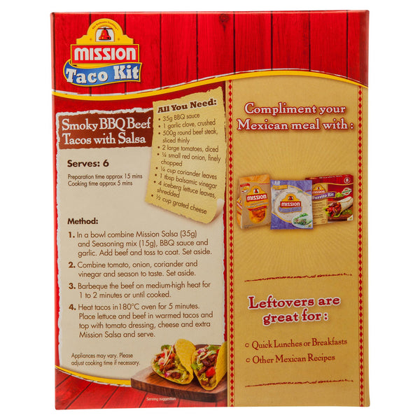 Mission Taco Dinner Kit 310g , Z-Bakery - HFM, Harris Farm Markets  - 3