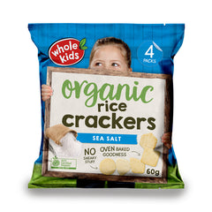 Whole Kids - Rice Crackers Organic - Sea Salt (60g)