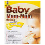 Baby Mum-Mum Banana Premium Rice Rusks 36g , Grocery-Biscuits - HFM, Harris Farm Markets  - 1
