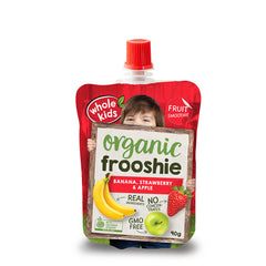 Whole Kids - Frooshie Organic - Banana Strawberry & Apple (90g)