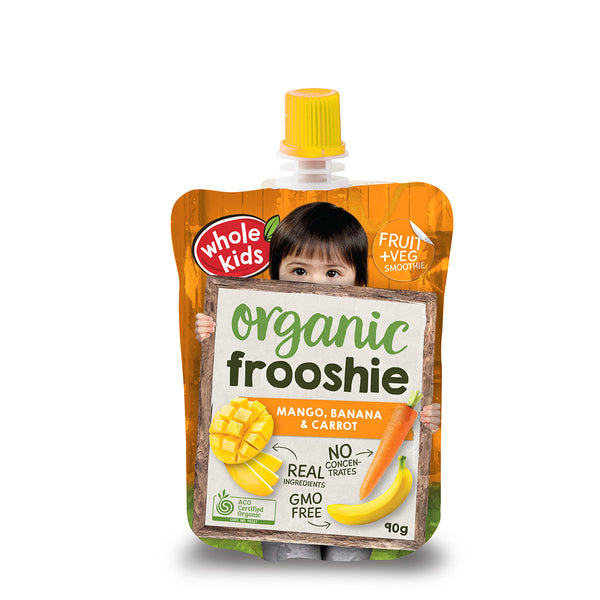 Whole Kids - Frooshie Organic - Mango Banana & Carrot (90g)