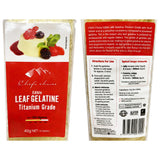 Chefs Choice - Edible Leaf Gelatine - Titanium Grade (12 Sheets, 40g)