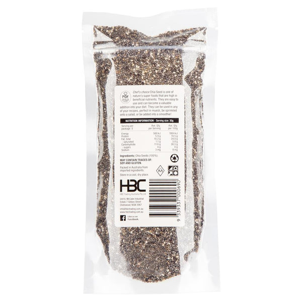 Chefs Choice Chia Seed 150g , Grocery-Nuts - HFM, Harris Farm Markets  - 2