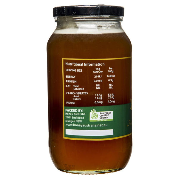 Honey Australia Certified Raw Organic 1Kg , Grocery-Spreads - HFM, Harris Farm Markets  - 2