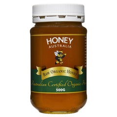 Honey Australia Certified Raw Organic 500g , Grocery-Spreads - HFM, Harris Farm Markets  - 1