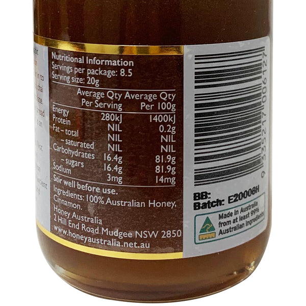 Honey Australia - Cinnamon Honey | Harris Farm Online