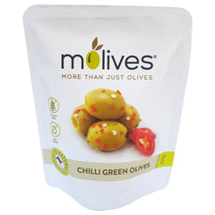 Molives Green Olives Oregano and Garlic 150g