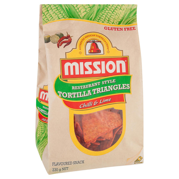 Mission Corn Chips Lime 230g , Grocery-Confection - HFM, Harris Farm Markets  - 1