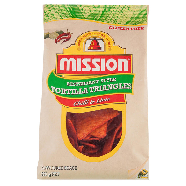 Mission Corn Chips Lime 230g , Grocery-Confection - HFM, Harris Farm Markets  - 2