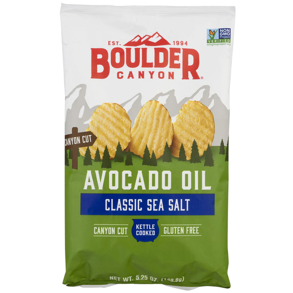 Boulder Canyon - Kettle Potato Chips - Classic Sea Salt - Avocado Oil
