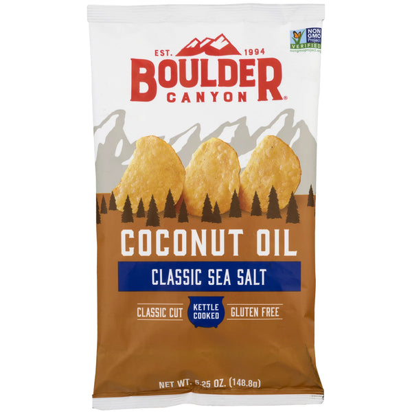 Boulder Canyon - Kettle Potato Chips - Sea Salt - Coconut Oil (149g)
