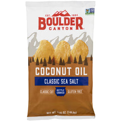 Boulder Canyon - Kettle Potato Chips - Sea Salt - Coconut Oil | Harris Farm Online