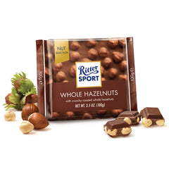 Ritter Sport - Chocolate Milk - Whole Hazelnuts (100g)