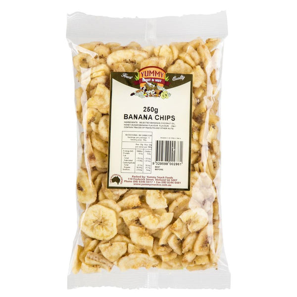 Yummy Banana Chips 250g , Grocery-Nuts - HFM, Harris Farm Markets