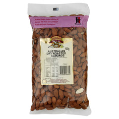 Yummy Almonds Dry Roasted 500g , Grocery-Nuts - HFM, Harris Farm Markets  - 1