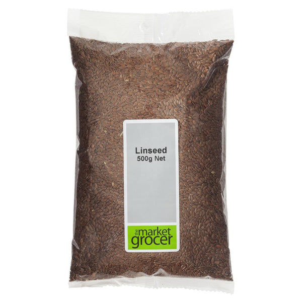Market Grocer Linseed 500g , Grocery-Nuts - HFM, Harris Farm Markets  - 1