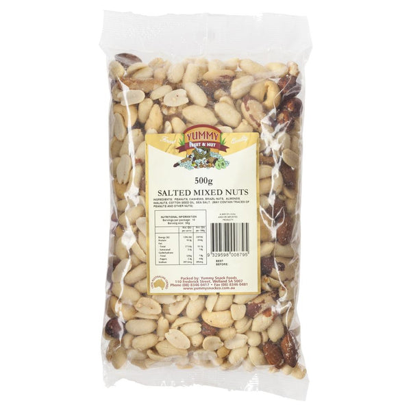 Yummy Mixed Nuts Salted 500g , Grocery-Nuts - HFM, Harris Farm Markets  - 1