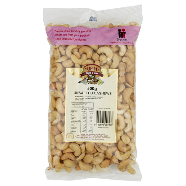 Yummy Cashews Unsalted 500g , Grocery-Nuts - HFM, Harris Farm Markets  - 1