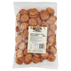 Yummy Rice Crackers Spicy Bake 300g , Grocery-Confection - HFM, Harris Farm Markets  - 1
