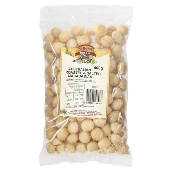 Yummy Fruit Nut Roasted Salted Macadamias 400g , Grocery-Nuts - HFM, Harris Farm Markets  - 1
