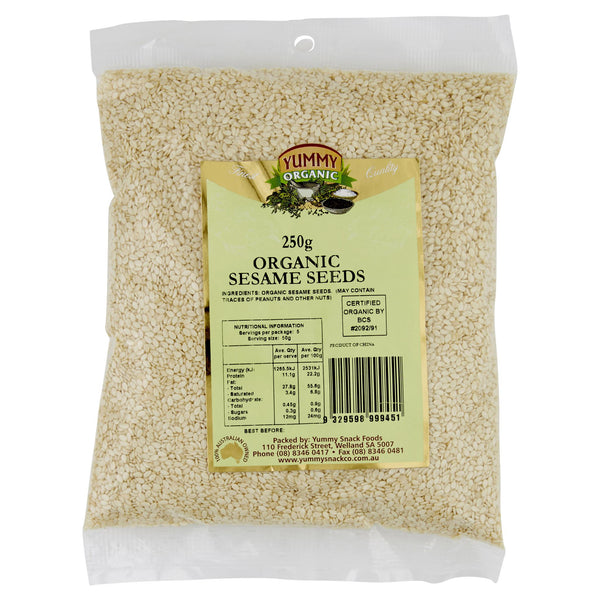 Yummy Organic Sesame Seed 250g , Grocery-Nuts - HFM, Harris Farm Markets