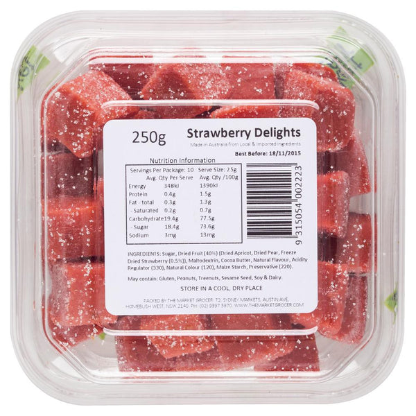 The Market Grocer Strawberry Delights 250g , Grocery-Confection - HFM, Harris Farm Markets  - 3