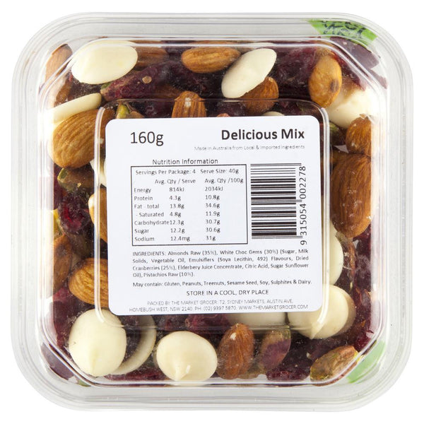 Market Grocer Delicious Mix 160g , Grocery-Nuts - HFM, Harris Farm Markets  - 2