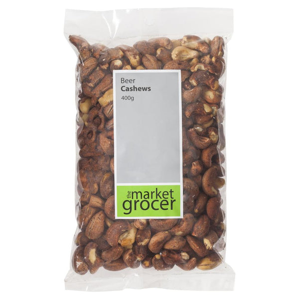 Market Grocer Beer Cashews 400g , Grocery-Nuts - HFM, Harris Farm Markets  - 1
