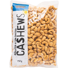 Harris Farm Cashews Roasted and Unsalted 750g