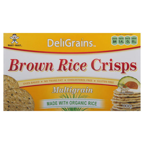 Deligrains Rice Cracker 100g , Grocery-Crackers - HFM, Harris Farm Markets  - 2