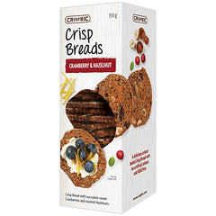 Crispbic Crisp Breads Cranberry and Hazelnut 150g