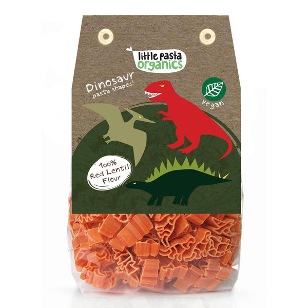 Little Pasta Organics Pasta Vegan Dinosaur Shapes 250g