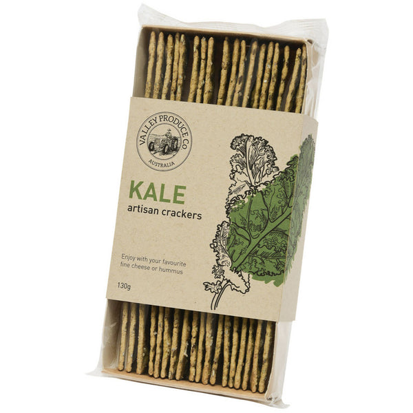 Valley Produce Co - Artisan Crackers - Kale (130g)