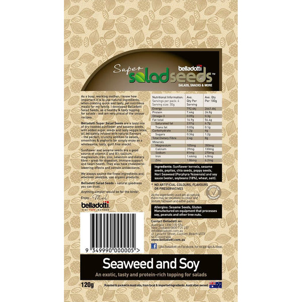 Belladotti Salad Toppers Seaweed and Soy Seeds 120g
