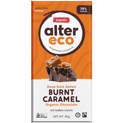 Alter Eco Organic 70% Dark Salted Burnt Caramel Chocolate | Harris Farm Online