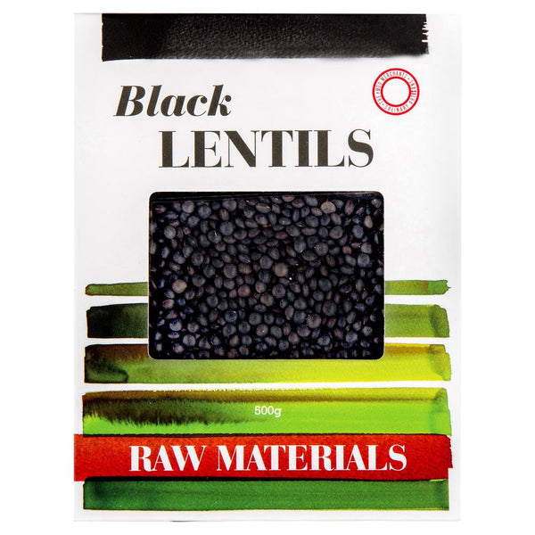Raw Materials Black Lentils 500g , Grocery-Dry Goods - HFM, Harris Farm Markets  - 1