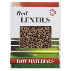 Raw Materials Red Lentils 500g , Grocery-Dry Goods - HFM, Harris Farm Markets  - 1