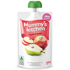 Mummy's Kitchen - Baby Food Pouch - Apple & Pear (4 months plus, smooth, 120g)