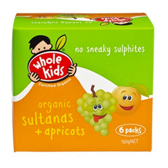 Whole Kids - Sultanas Apricots Organic (6packs, 150g)