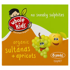 Whole Kids Organic Sultanas Apricots 150g , Grocery-D_Fruit - HFM,   - 1