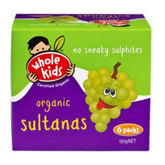Whole Kids - Sultanas Organic (6packs, 150g)