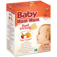 Baby Mum Mum - First Rice Rusks - Apply and Pumpkin | Harris Farm Online